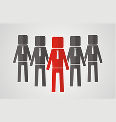 leadership concept - group of workers should be vector image vector image