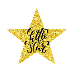 little star hand drawn creative calligraphy and vector image vector image