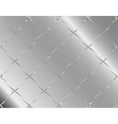 Metal background or texture of checked aluminium p vector