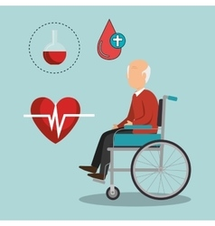 old man and healthcare design vector image