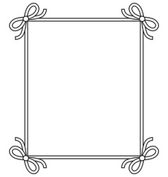 ornamental frame with vintage decor bows elements vector image vector image
