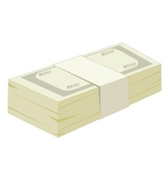 Pack of the money vector image
