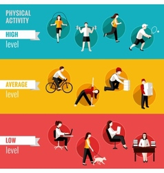Physical activity horizontal banners vector image