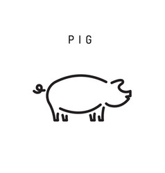 Pig icon isolated vector