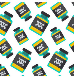 poison bottle seamless pattern vector image vector image