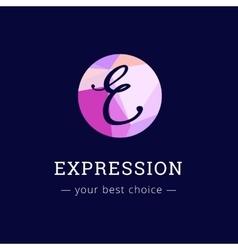 Polygonal style elegant e letter logo vector
