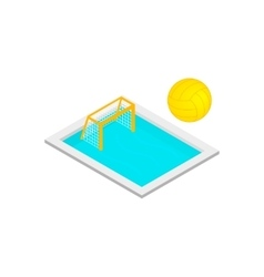 Pool handball isometric 3d icon vector