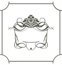 royal frame vector image vector image