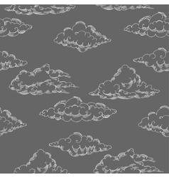 Seamless patt clouds-05 vector