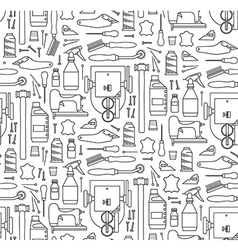 Seamless pattern of furriers tools vector