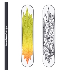 Snowboard design two vector