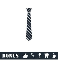 Tie icon flat vector