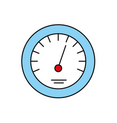 timer icon scale indicator fast growth speed vector image