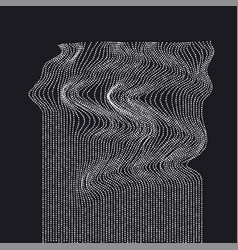 White on black abstract waterfall concept dynamic vector
