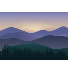 with Panorama Mountains view vector image