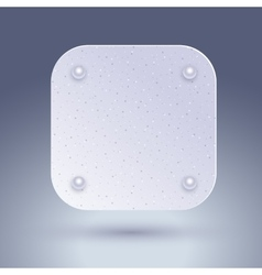 Blank technology icon button blank template with vector image