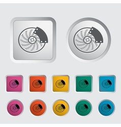 Automobile brakes single icon vector