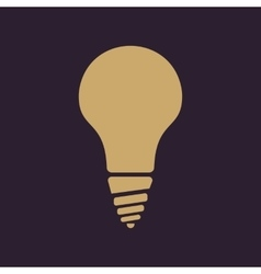 The incandescent lamp icon lamp and bulb vector