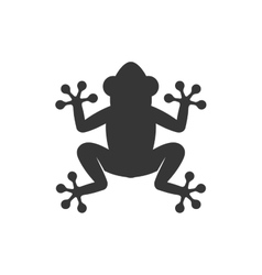 Frog icon logo on white background vector