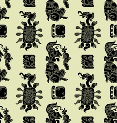 Background seamless pattern in maya style vector