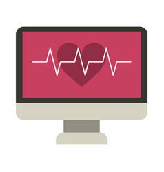 Monitor heartbeat cardiology rhythm vector