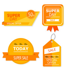 Sale banner design collection of colored banners vector