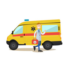 Ambulance staff concept in vector