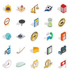 Time icons set isometric style vector