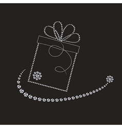 Luxury label with gift box vector