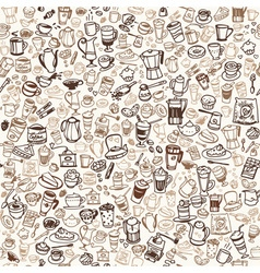 Coffee doodles 8 1 1 vector