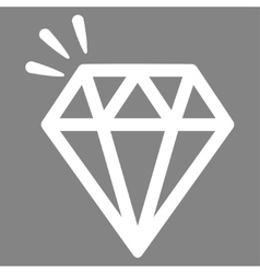 Crystal icon from commerce set vector