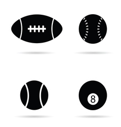 Ball black silhouette vector