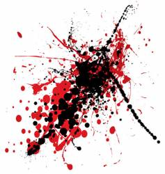 Blood splat with black vector