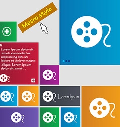 Film icon sign buttons modern interface website vector