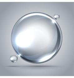 beautiful bubbles of soap vector image