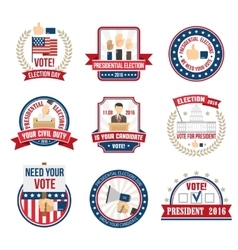 Presidential election labels vector
