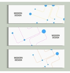 Abstract banner background dotted lines and balls vector
