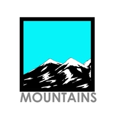 abstract landscape with mountain range vector image vector image