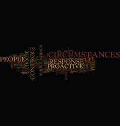 Are you able to control your circumstances text vector