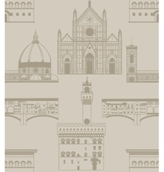 Background with landmarks of florence vector