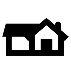 Big home icon vector image vector image