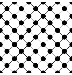 Black Polka dot Chess Board Grid White vector image vector image