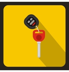 Car key with remote control icon flat style vector image