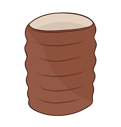 Clay cup vector image