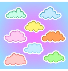 clouds elements1b vector image