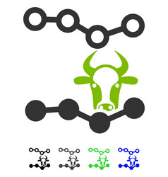 Cow trends flat icon vector