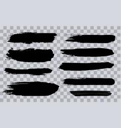 creative of grunge black rough vector image