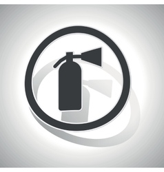 Curved fire extinguisher sign icon vector