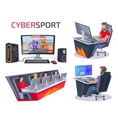 cybersport set of icons on vector image vector image