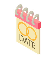 date icon isometric style vector image